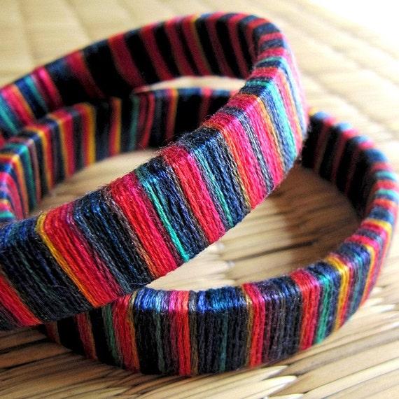 Yarn Wrapped Happy Bangle
