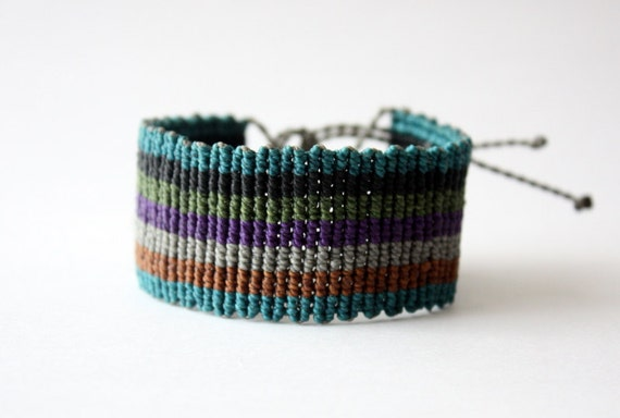 Macramé Bracelet Colourful Thick