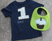 Birthday shirt and coordinating bib set - YOU customize