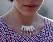 White lapicitos necklace