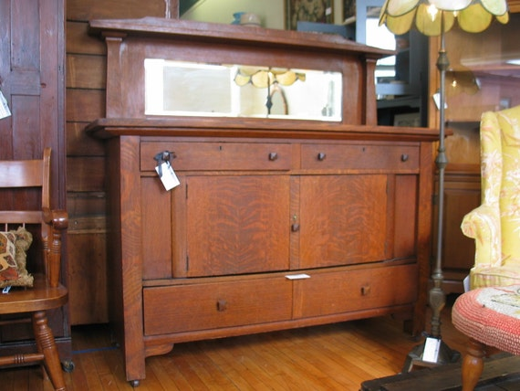 Reserved For Customerantique Mission Arts And Crafts Oak