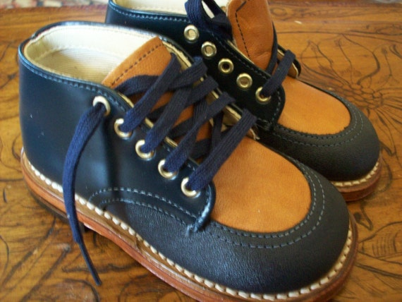 Vintage Baby 4.5 Willits Navy Boots