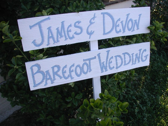 Items Similar To Personalized Beach Wood Wedding Sign On