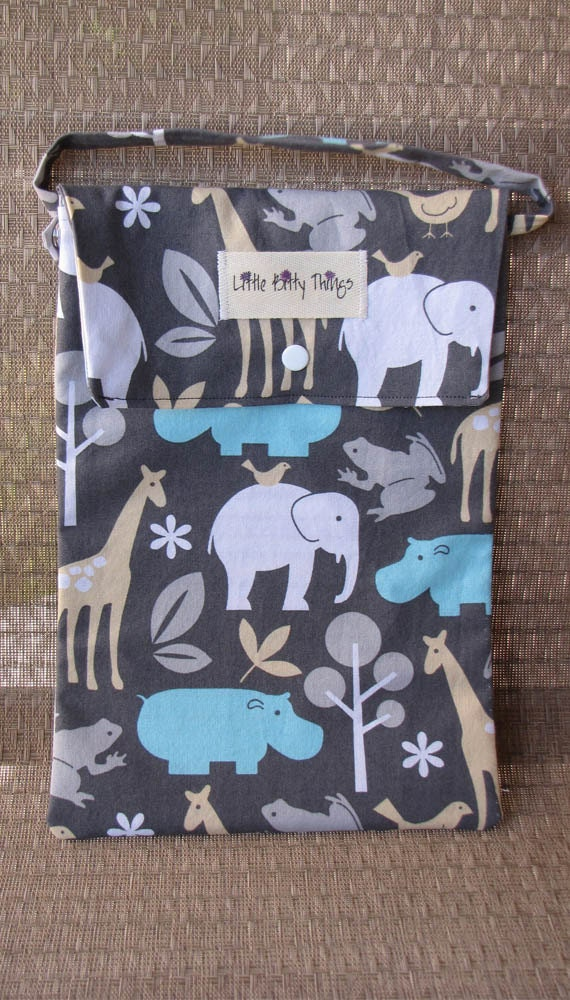 On-the-Go Tote - Michael Miller Baby Zoology Sea