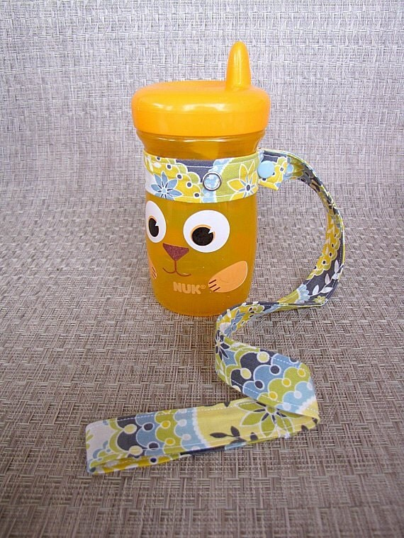 Toy/Sippy Cup Leash (with snaps) - Silent Cinema Intermission Green