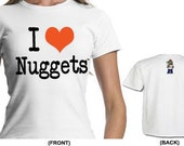 I Love Nuggets Woman's Organic Cotton Fitted T-Shirt