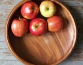 vintage wood bowl serving dish modern rustic shabby chic cottage modern farmhouse centerpiece bowl