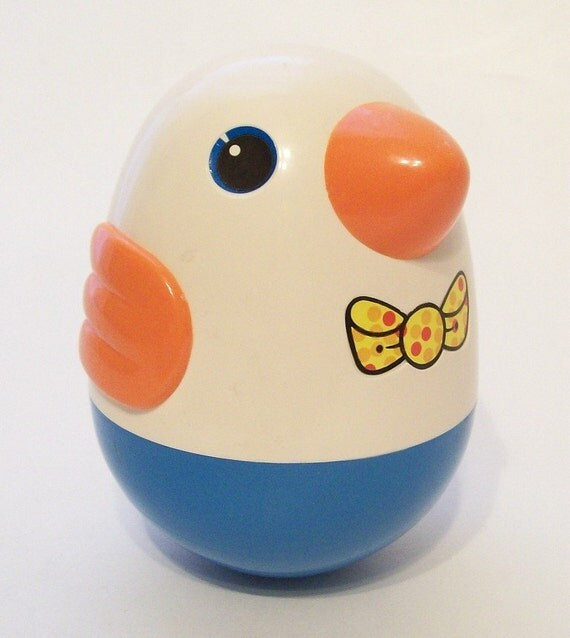 Playskool Roly Poly Weeble Wobble Chime Bird Toddler Playtime