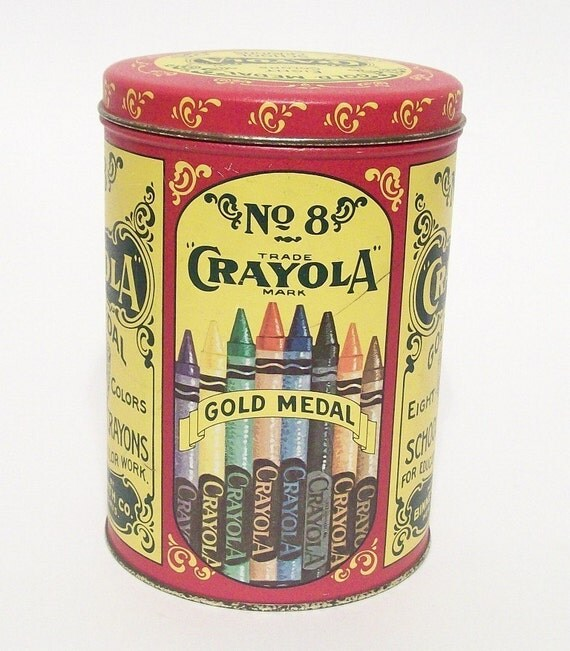 Crayola Crayons No 8 Tin 1982 Binney and Smith Replica of