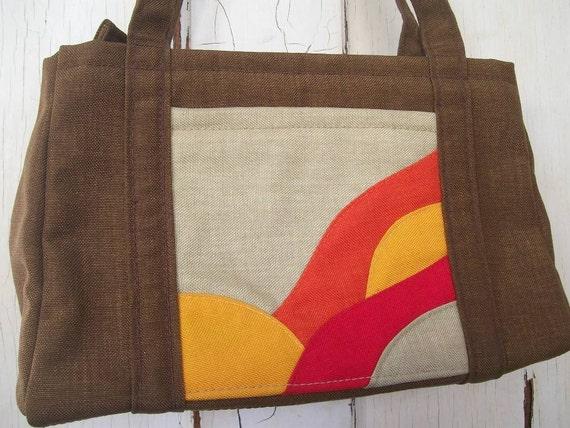 Patchwork Sun . Bohemian Hippie Handbag
