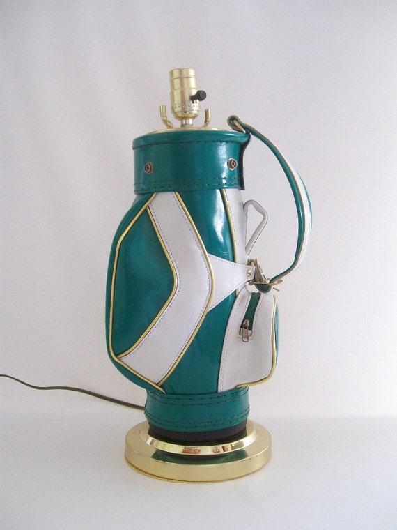 Golf Bag Lamp Vintage Retro Kitschy Atomic Home Decor
