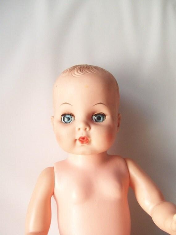 vintage baby doll crystal blue sleep eyes kitschy retro prop - il_570xN.328555031