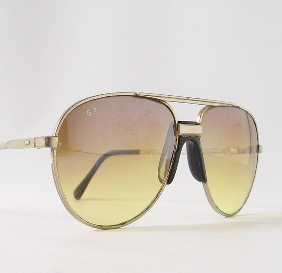 Thin Gold Frame Sunglasses : vintage aviator sunglasses sun glasses sport by ...