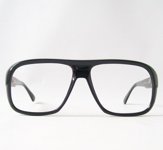 vintage tura black eyeglasses eyewear frames old school birth control horn rim mens retro fashion