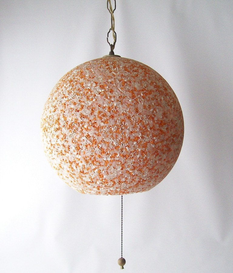 Vintage Swag Lamp Hanging Atomic Light Confetti Lighting Ball