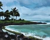Kauai Stormy Day - Original Oil Landscape - 6x12
