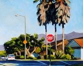 Bailard Avenue II - Large Landscape oil painting - 18x24