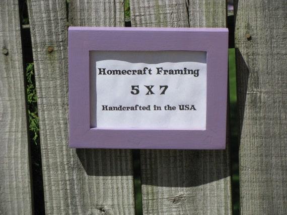 5x7 picture frame wedding frame wood frame lavender cottage. Black Bedroom Furniture Sets. Home Design Ideas