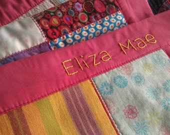 Add on: Personalize your baby blanket with hand embroidered baby's name