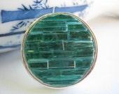 Stained Glass Mosaic Ring Aquamarine