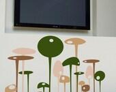 Funky Mushroom - vinyl wall art decal sticker