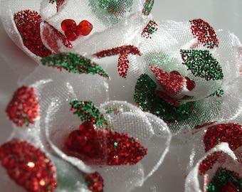 Christmas Flower Embellishment