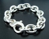 Reserved for Kayokitty - Sterling Silver Love Chain Bracelet