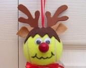 Christmas Reindeer Ornament Tennis Ball (Boy)