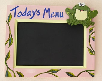 Today's Menu Chalkboard Plaque Handmade from Reclaimed Wood