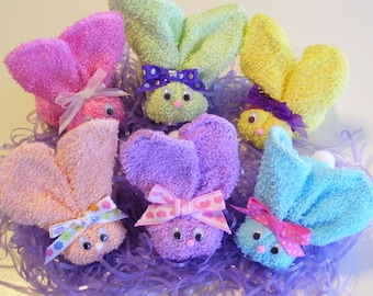 Boo Boo Bunnies in Pastel Colors (Buy 6 Get 2 Free) Easter Baby Shower Favor