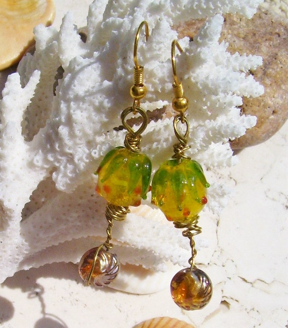 Glass Pineapple Earrings