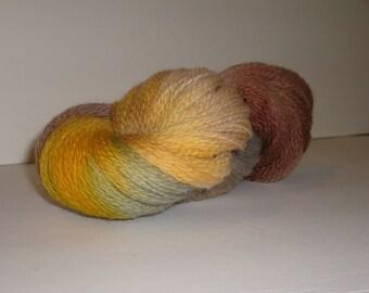 Hand dyed yarn, fingering weight, 440 yards, Peruvian Highland Wool, Venus