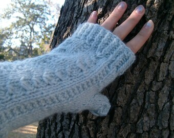 Mediterranean Fingerless Mitts, Pattern only, PDF, Adult size S-M