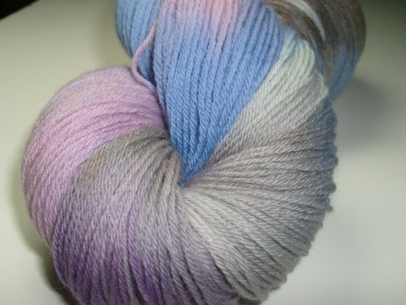 Hand dyed yarn, fingering weight, 440 yards, Merino wool, Spring Blossoms