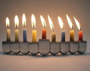 SALE! Hanukkah Dreidel Menorah - Made in ISRAEL Judaica Chanukiah