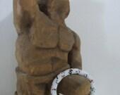 Native American Beaded Bangle Bracelet, Hand Beaded, 1970s