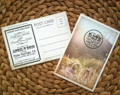 "Custom listing for NICOLE - 4.25"" x 6"" Vintage Save The Date Postcard"