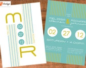 Custom Listing for KRISTIN - Retro-Modern Wedding Invitation, FINAL PAYMENT