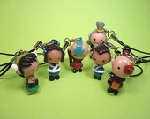 Avatar - The Last Airbender Cell Phone Charm/Keychain Appa, Momo and Penguin