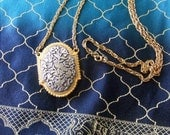 Vintage Max Factor Necklace with Bird Locket