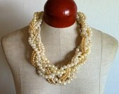 Pearl Statement Necklace- Nautilus