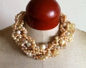 Chunky Pearl Statement Necklace- Kraken