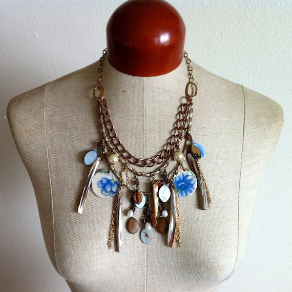 Nautical Charm Statement Necklace- Davy Jones' Locker