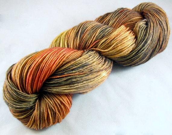 The Dark Before the Dawn - Hand Dyed SW BFL/Nylon Yarn