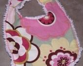 Pink Flower Bib