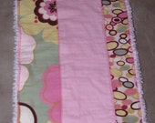 Pink Flowers Burp Cloth - READY TO SHIP