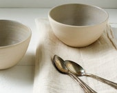 Lavender Gray Stoneware Bowl Set