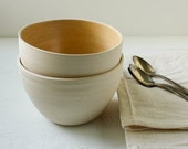 Butterscotch and Buff Stoneware Bowl Set