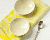 Yellow Salt and Pepper Porcelain Bowls