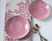 Two Pink Porcelain Bowls